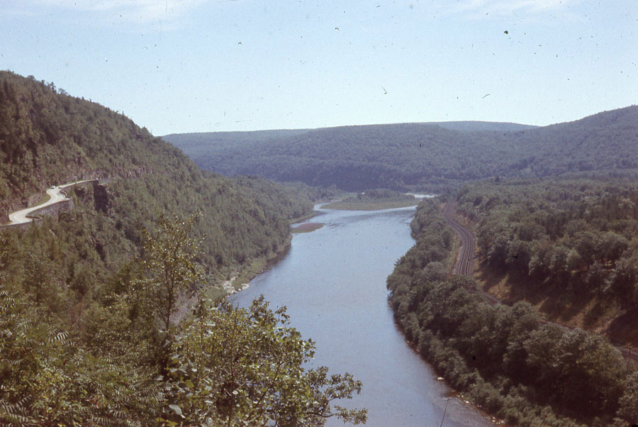 The winding Hawk's Nest Road overlooking a river and a railroad, offered the sort of scenic drive my Dad loved best.