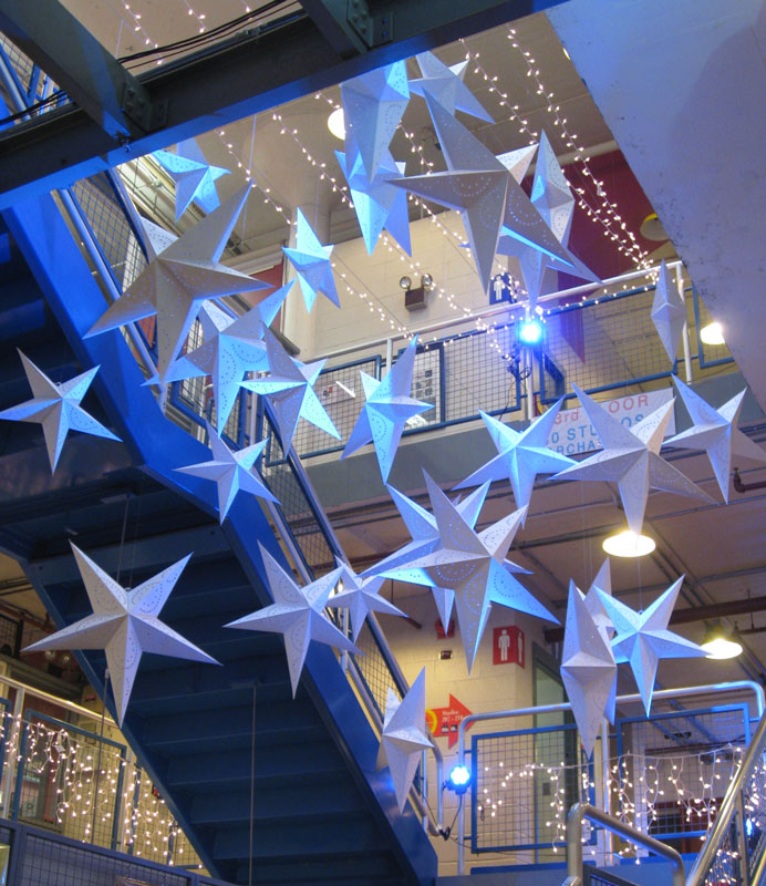 Even paper stars entice us to look up.