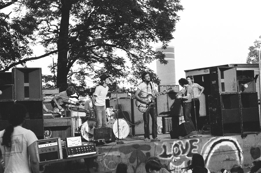 Claude Jones played for free under the stars at Fort Reno Park in 1970.