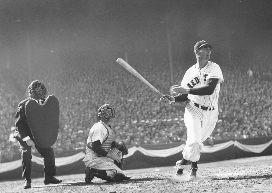 One of the greatest hitters of all time and a true hero besides, Ted Williams played for the Boston Red Sox for 19 years.