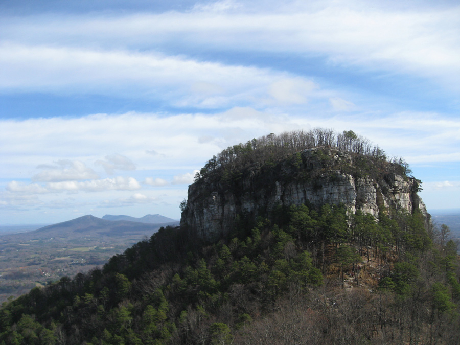 The Big Pinnacle of Pilot Mountain can be seen for miles in all directions.