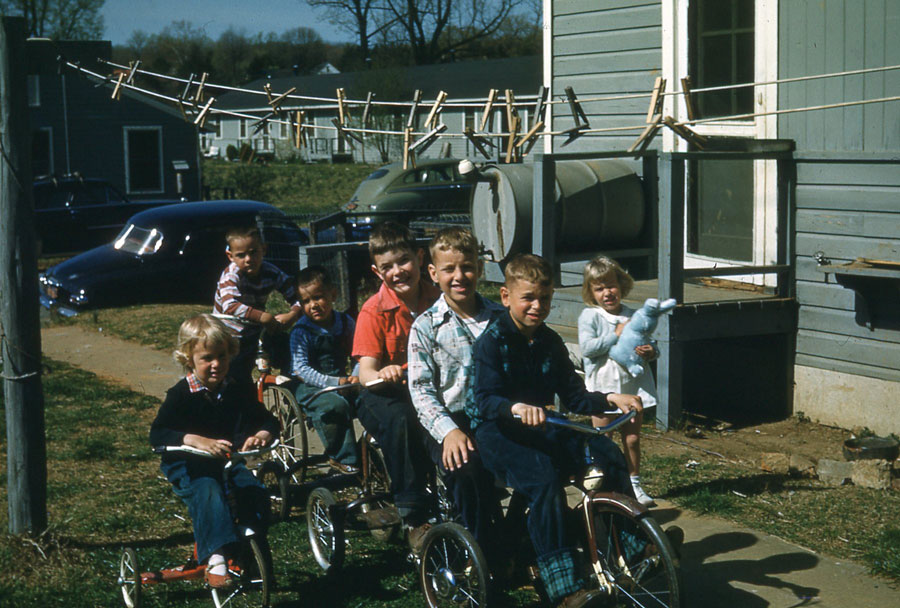 Even though I rode a bike at a young age, I knew I was a girl. Check out the footwear.