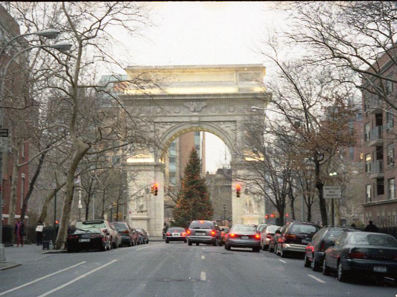 Like a portal to a timeless era, Washington Square arch serves as the gateway to Greenwich Village.