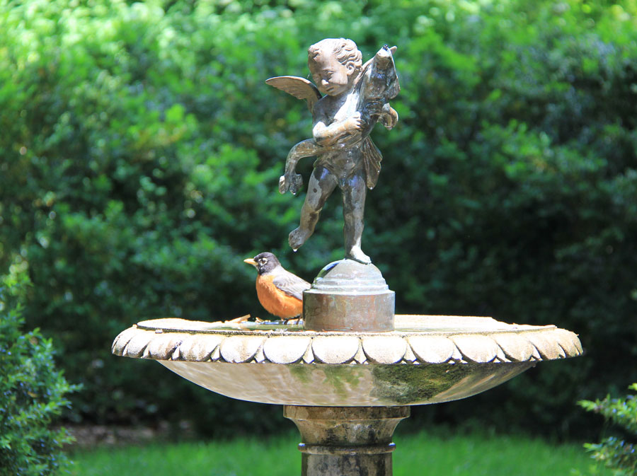 The song a robin sings plays on at Tudor Place.