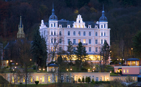 The Bristol-Palace Hotel in the spa town of Karlovy-Vary, Czech Republic, served as an inspiration for the setting of Anderson's latest film.