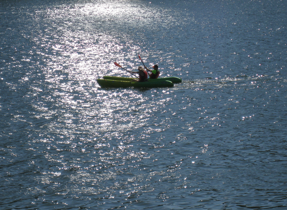 Paddlers revel in the Potomac.