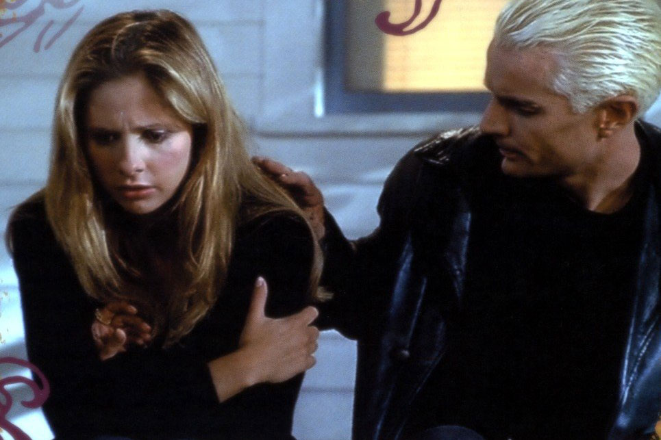 Buffy and Spike. Fangs for the memories.
